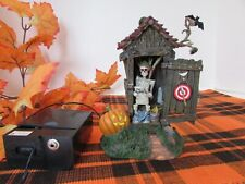 New ListingDept 56 Haunted Outhouse Lighted With Battery Box No Outer Box Works LotD