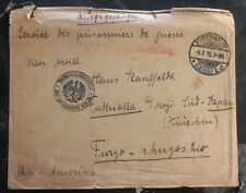 1915 Freienwalde Germany To Pow Cover Ww 1 Fukuoka Japan prisoner of war