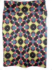 NWT LulaRoe Cassie Pencil Skirt LARGE (L) Black Green Blue Red Floral