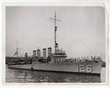 1942 Flush Deck Destroyer DD-126 USS Badger 6.5x8.5 Original News Photo