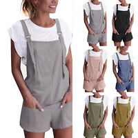 Womens Shorts Pants Jumpsuit Strappy Harem Trousers Playsuit Dungarees Overalls