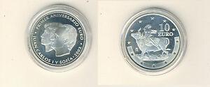 Espagne 10 Euro 2003 1 Anniversaire Euro Pp Argent (M00420)