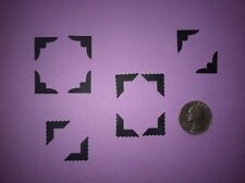80 BLACK PHOTO CORNER DIE CUTS PUNCHES 2 DIFFERENT STYLES