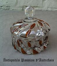 B20131175 - Sucrier à poudre en demi-cristal 1930-40 - Très bon état