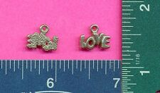 20 wholesale lead free pewter love charms 1243