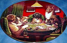 Winner Takes All Brown & Bigelow Franklin Mint Puppy Dog Poker Card Game Plate