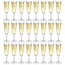 Plastic Champagne Glasses Flutes Outdoor Strong Dining Drinking Cups Glasses x24
