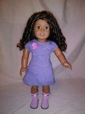 "American Girl Doll 18""- medium skin, curly dark brown hair, hazel eyes, truly me"