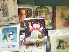 CHRISTMAS CARDS Pack of 20 mixed :Cute, Traditional, Glittery, Animals, Santa...
