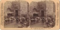 Jerusalem Porta Di Jaffa Stereo Stereoview Vintage