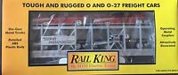 MTH 30-7656 RAIL KING MTH AUTO TRANSPORT AUTO CARRIER W/ERTL 57 CHEVYS