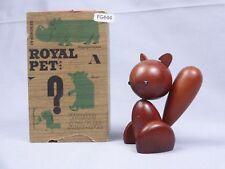 Senshukai Royal Pet SQUIRREL Original Box Animal 1960s Vintage Wood Figurin 444