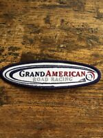 Vtg Grand Am Embroidered Sew On Patch American Road Racing Series Badge 5.25""