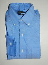 Club Room Men's Dress Shirt Blue Regular Fit Pinpoint NWT Size 16 34/35 DS1295