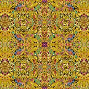 Gold Duets Fabric - 12353B-33 - Paula Nadelstern - Benartex