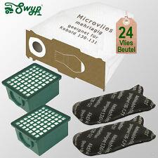 24 Staubsaugerbeutel Vlies 4 Filter passt für Vorwerk Staubsauger Kobold 130 131