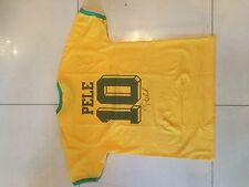 PELE HAND SIGNED AUTOGRAPH BRAZIL JERSEY - SOCCER SHIRT - GREAT COLLECTABLE