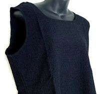 Orvis Womens Tank Top Sleeveless Shirt Crinkle Black Shell Stretch Size Large