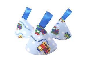 Pee Pee Teepee x3 / Wee Stop Cones Teepees / Boy Baby Shower / Blue Trains Choo