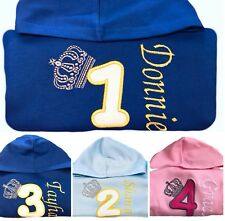 Personalised 1st,2,3,4,5,6th Birthday Outfit Hoodie,Jumper,Top Baby/Kids Gift
