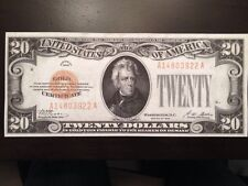Reproduction $20 Bill Gold Certificate 1928 Andrew Jackson Copy White House Back