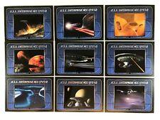 STAR TREK COMPLETE NEXT GENERATION 2 Complete ENTERPRISE Chase Card Set E10-E18