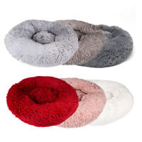 Comfy Calming Dog Cat Bed Round Super Soft Plush Pet Bed Marshmallow Cat Beds xz