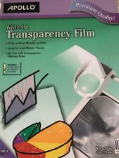Apollo Write-On Transparency Film Letter Clear 100/Box WO100CB. Free Shipping