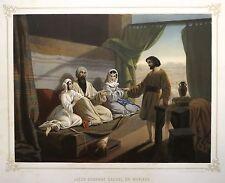 Lithographie de Regnier , Jacob et Rachel , Demande en mariage