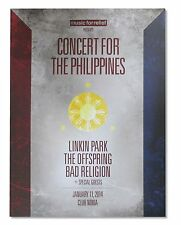 "LINKIN PARK ""LOVE FOR PHILLIPINES"" CONCERT POSTER NEW OFFICIAL BAND MUSIC"