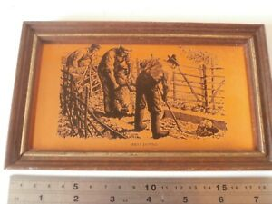 Vintage Picture, Copper Etched, SHEEP DIPPING - rams ewes hurdles country skills