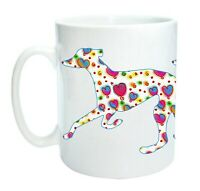 Greyhound Mug Trotting Hounds Cool Modern Heart Design Birthday Mothers Day Gift