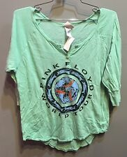 $55 New Junk Food Brand Pink Floyd Group Graphic Solid Blue 3/4 Sleeve M