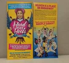 2x Head Over Heels Flyer The Go-Gos Broadway Musical Rare Belinda Carlisle GOGOS
