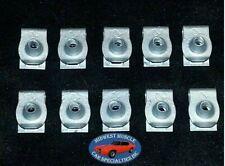 Chrysler Dodge Plymouth Factory Correct #8 Coarse Screw U Clips J Nuts 10pcs O