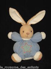 Doudou boule marron beige bleu blanc Kaloo étoile orange verte fluo 18 cm