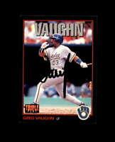 Greg Vaughn Hand Signed 1993 Triple Play Milwaukee Brewers Autograph