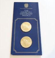 1974 Churchill Centenary Trust Silver Gilt Medallions Sidney St. Fleet Pinches