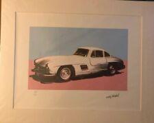 ANDY WARHOL, CMOA, Rare Vintage Mercedes-Benz 300 SL Coupé original LITHO 1988