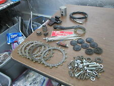 Vintage Yamaha Motorcycle Piston Friction Plates Cable Pedal Coil Parts Lot