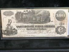 Confederate Currency 1862 One Hundred Dollar T-40