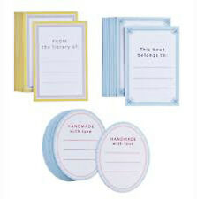 Martha Stewart Crafts Name Plate Labels Tags 36 pieces Die-Cut Oval Rectangle