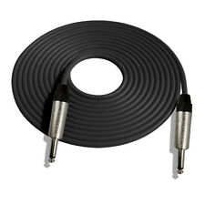 10' Mogami W2524 Guitar Black Cable w/Neutrik NP2X S-S, Nickel Contacts