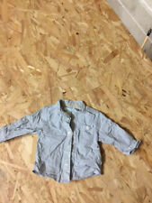 chemise bebe garcon grise et blanche obaibi taille 3 mois