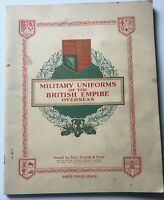 MILITARY UNIFORMS OF THE BRITISH EMPIRE OVERSEAS. COMPLETE JOHN PLAYER CARDS.