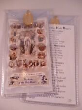 Mysteries of The Rosary ~ Prayer Card & Medal ~ PACK OF THREE