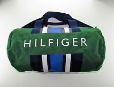 TOMMY HILFIGER LARGE DUFFLE GYM BAG GREEN BLUE NAVY MEN'S WOMEN'S UNISEX NWT