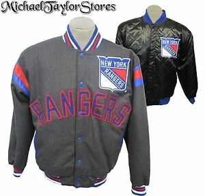 New York Rangers NHL Men's Reversible Snap Up Jacket