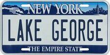 Lake George New York Metal License Plate