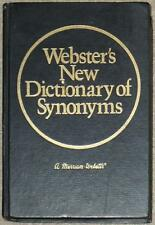 WEBSTER'S NEW DICTIONARY OF SYNONYMS ~  MERRIAM WEBSTER ~ HC